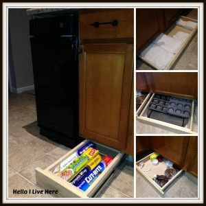 Under Cabinet Drawers - Wonderful storage