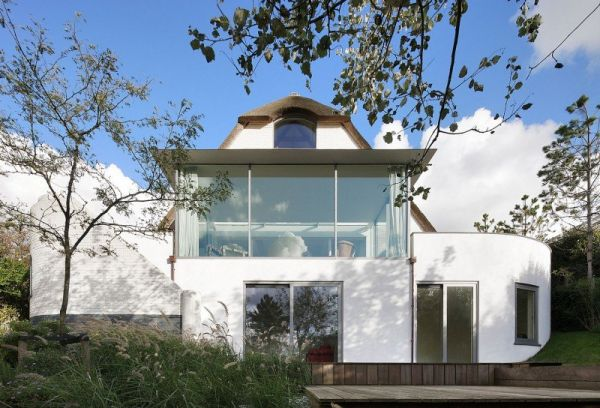 modern residence house n 2 Lovely Thatched Roof Seaside Residence in The Netherlands: House N