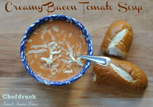 Cream of Tomato Soup with Bacon