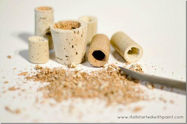 wine-cork-as-magnet-planter step 3