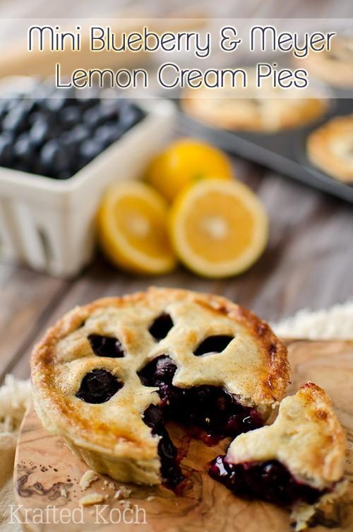 Mini Blueberry & Meyer Lemon Cream Pies | The Creative Bite