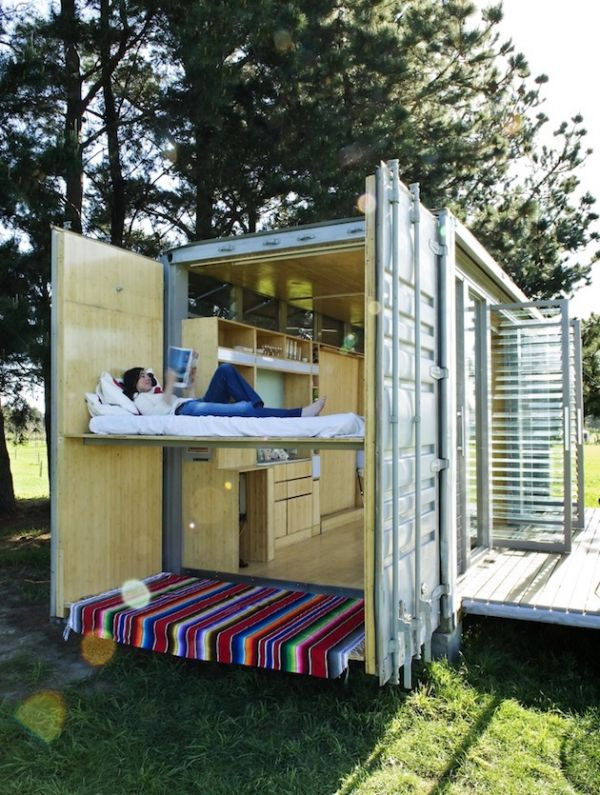 Upcycled Port-a-Bach Container Home by Atelierworkshop (6)