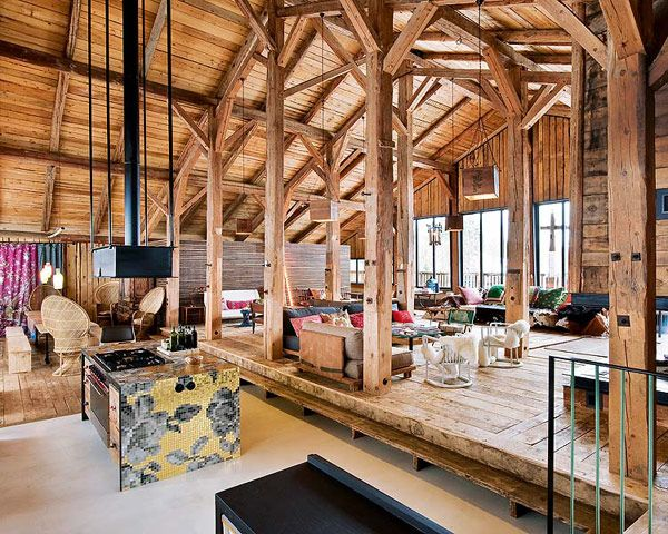 modern chalet 9 Former Farmhouse Converted into Sophisticated, Yet Bohemian Chalet in the Alps
