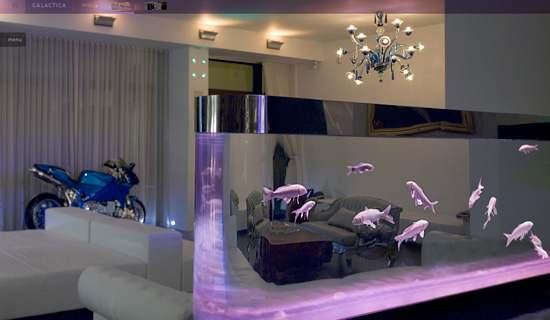room 16 decorating ideas with aquarium