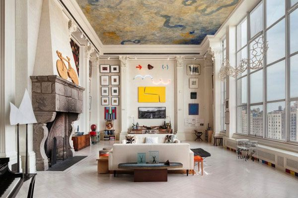 the living room How to Decorate Interiors With High Ceilings