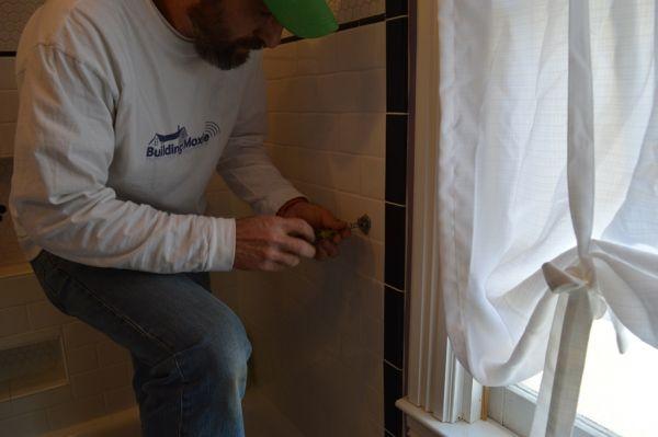 screwing into tile Building Skills :: Installing Bath Hardware in Tile :: Vintage Tie Back Edition