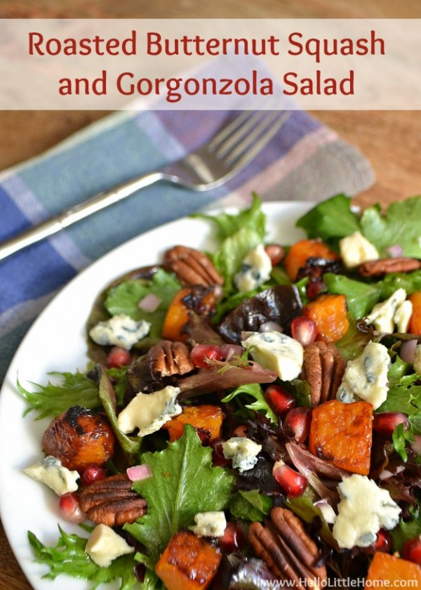 Roasted Butternut Squash and Gorgonzola Salad | Hello Little Home # ...