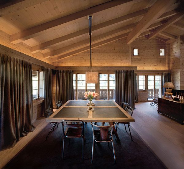 interior modern chalet Soft Textures and Clean Lines: Chalet Gstaad in the Swiss Alps