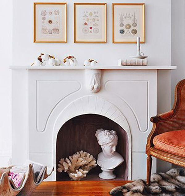 fireplaces a simple nest1 10 Creative Ways to Decorate Your Non Working Fireplace
