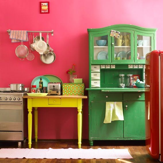mix and much colorful kitchen