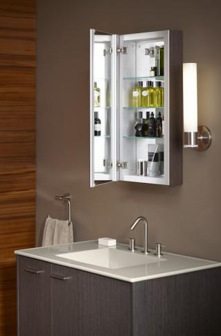 Verdera medicine cabinet   Stillness faucet   Jute vanity