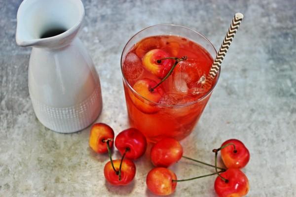 Rainier Cherry Sake Refesher : Cocktails : DrinkWire