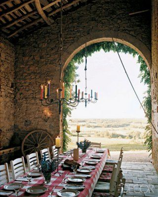 farmhouse outdoor dining