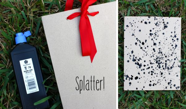 splatter wrapping paper diy