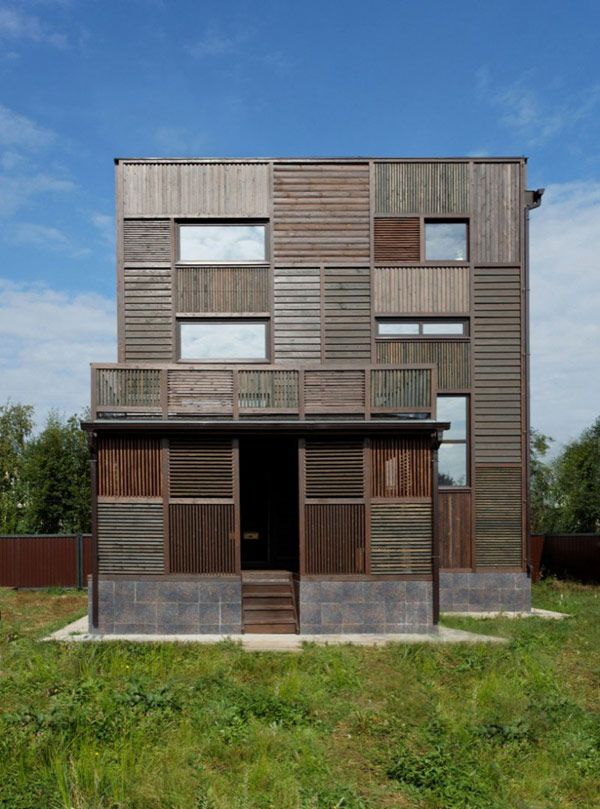 """Volga House 03 800x1079 Russian Home Architecture With an Interesting Patchwork"""" Appearance"""