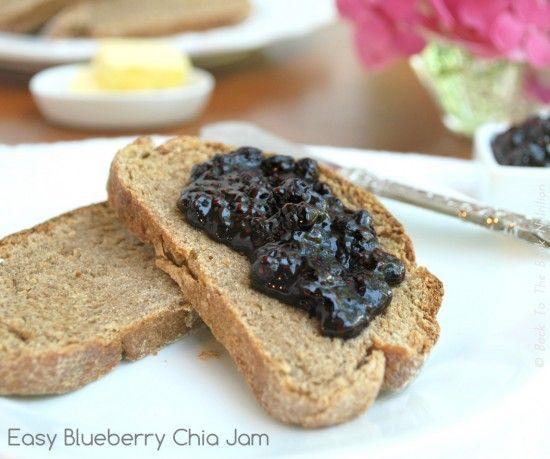 Easy Blueberry Chia Jam | www.backtotheoboknutrition.com/blog