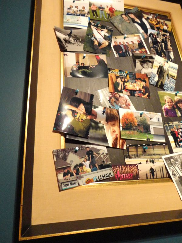 unique vintage diy photo peg board
