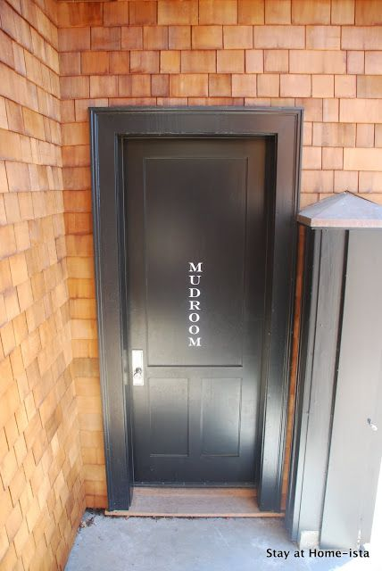 labeled door with decals