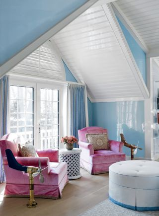 Beach Bedroom by Christopher Maya and Marina Lanina Studio in Southampton, New York