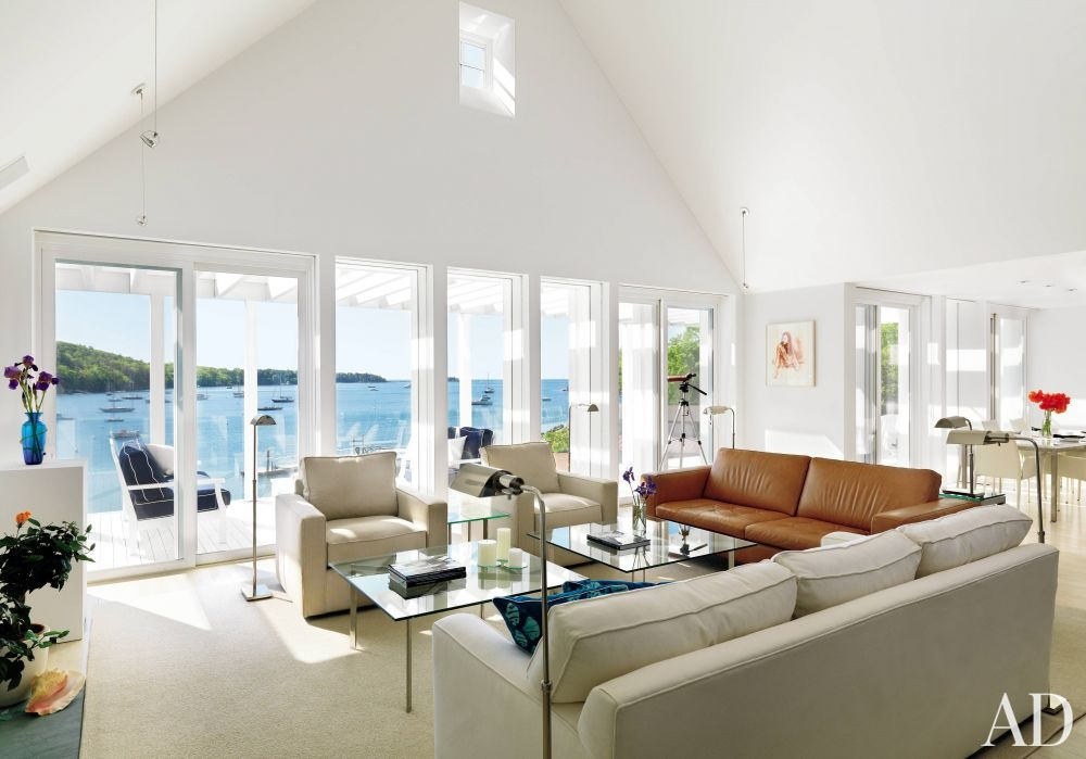 beach living room by jacobsen architecture the living room of a house