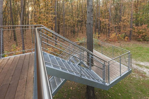 Stairs7 Creative and Inspiring Treehouse for Children and Adults in Belgium
