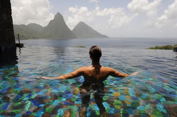 JadeMountain StLucia Lap in Luxury: Best Pools in the Caribbean