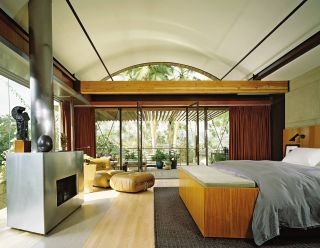 Contemporary Bedroom by Brad Dunning and Marmol Radziner in Beverly Hills, California