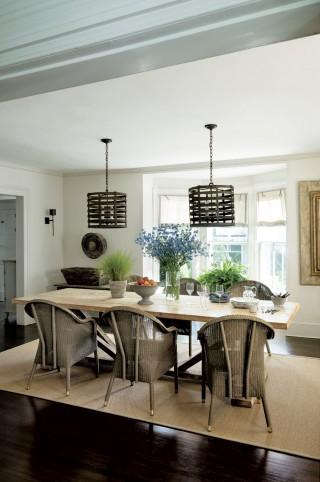 Contemporary Dining Room by Rebecca Bond in Bridgehampton, New York