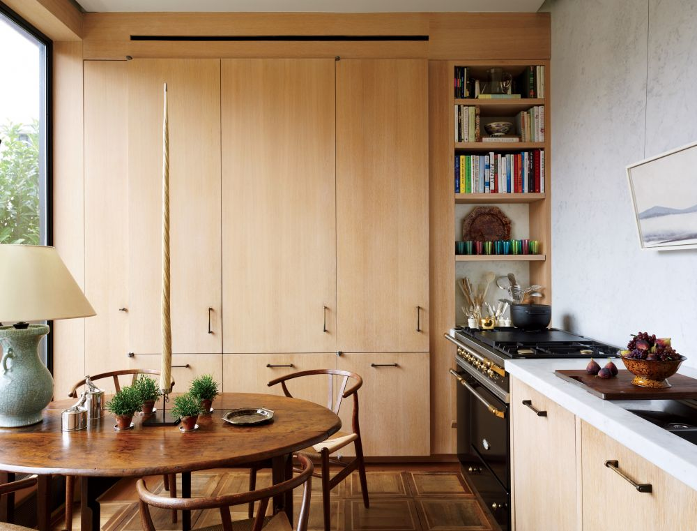 Contemporary kitchen by len morgan by architectural digest for Modern kitchen design new york