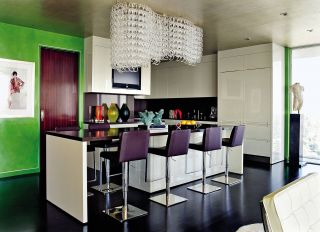 Contemporary Kitchen by Martyn Lawrence Bullard Design in Los Angeles, California