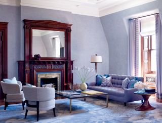 Contemporary Living Room by Drake Design Associates in New York, New York