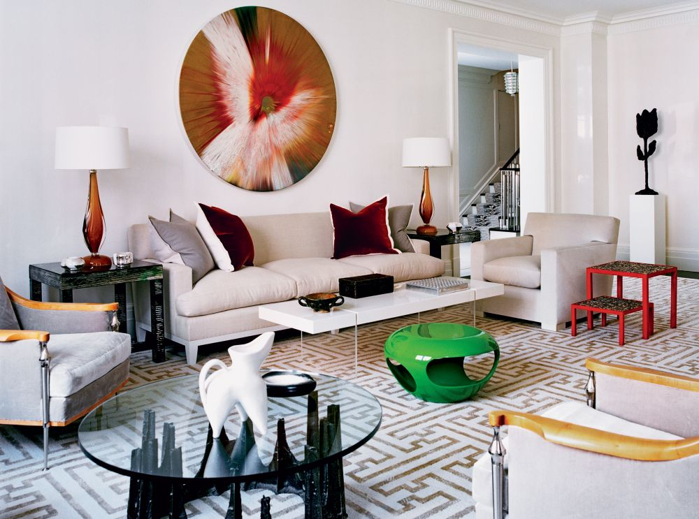 Contemporary living room by kevin roberts and timothy for Modern living room nyc