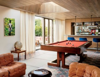 Contemporary Media/Game Room by Laura Santos and 1100 Architect in New York, New York
