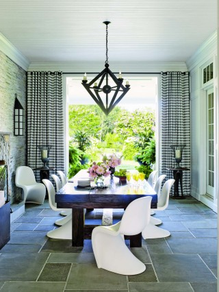 Contemporary porch by Juan Montoya Design in Southampton, NY