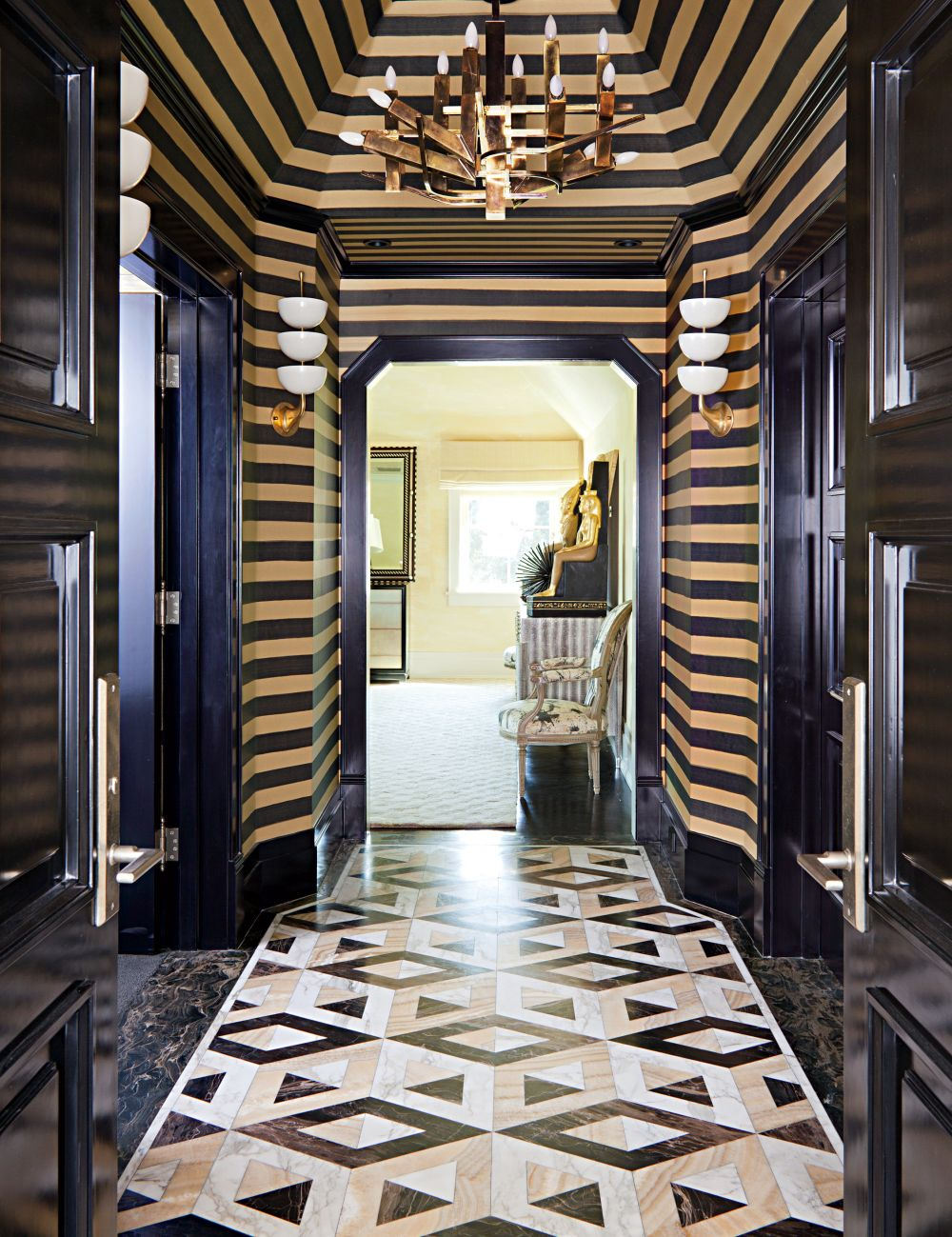 Contemporary staircase hallway by kelly wearstler by architectural digest ad designfile home for Kelly wearstler interior design