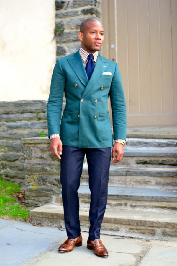 How To | Rock The Green Double-Breasted Blazer 3 Ways by Sabir M ...