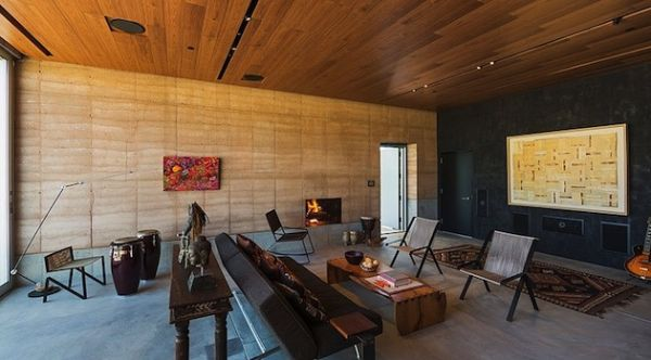 Rammed Earth Home in the Tucson Desert by Dust (13)