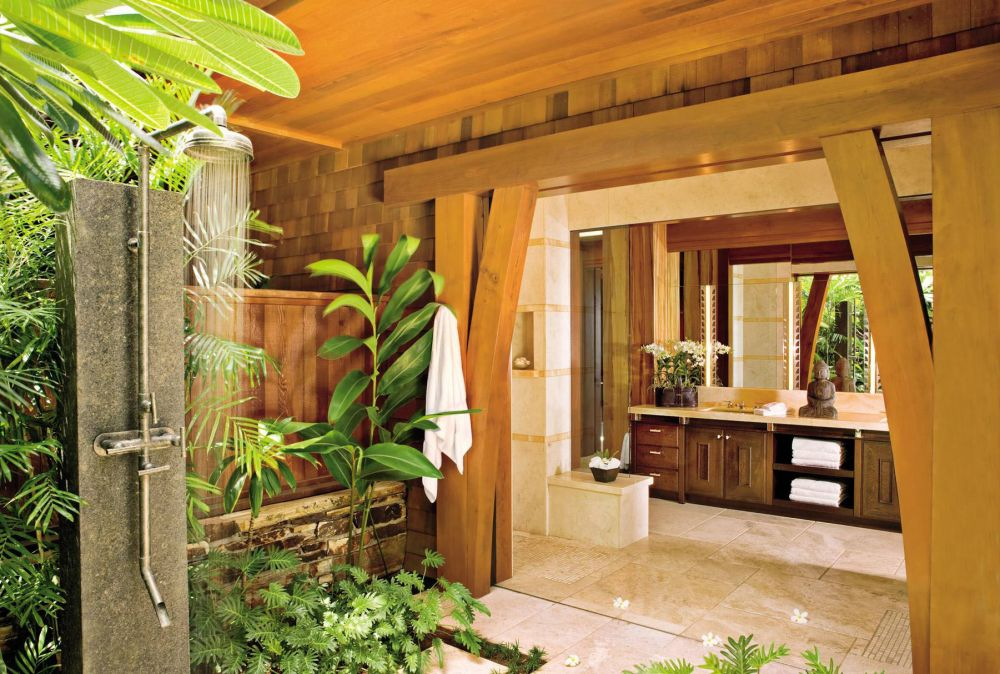 Exotic bathroom by werner design associates by for Hawaiian home design ideas