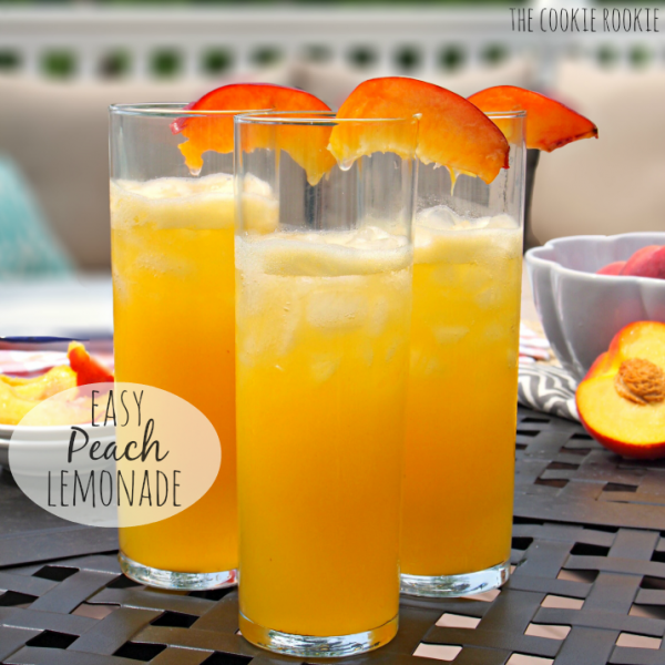 Easy peach lemonade adult or non alcoholic cocktails for Easy alcoholic mixed drinks