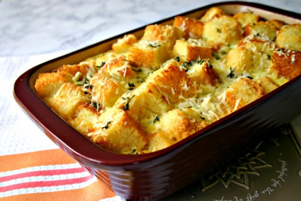 Parmesan Cornbread Pudding | Life, Love, and Good Food
