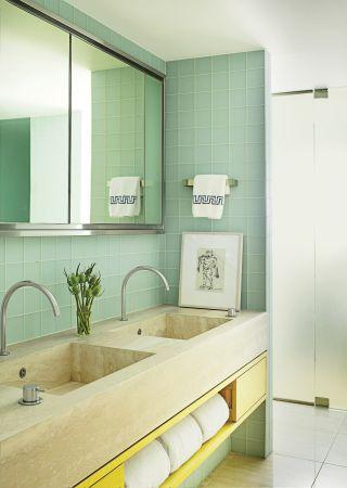 Modern Bathroom by MAC II and John Pawson in New York, New York
