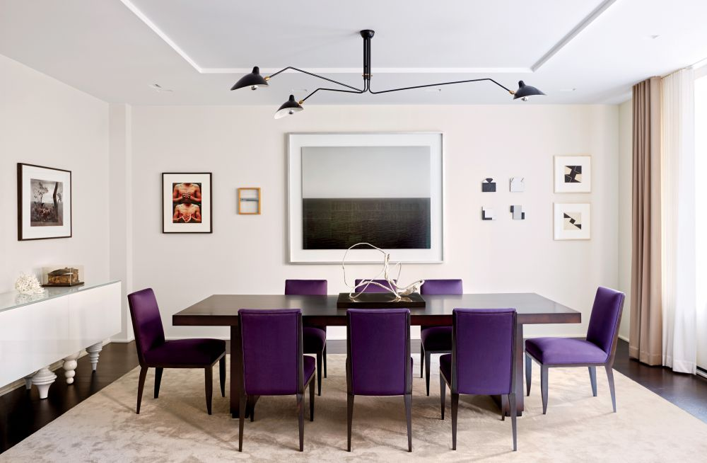 Modern dining room by d 39 apostrophe design inc by for Latest dining room designs