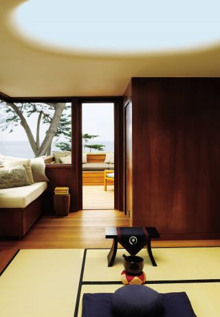 Modern Living Room and Dirk Denison in Carmel-by-the-Sea, California