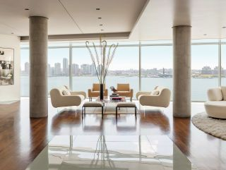 Modern Living Room by Ingrao Inc. and Preston T. Phillips Architect in New York, New York