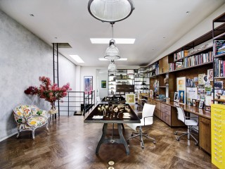 Modern Office/Library and Robin Elmslie Osler in Brooklyn, NY