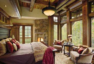 Rustic Bedroom by Locati Interiors and Locati Architects in Ontario, Canada