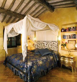 Rustic Bedroom in Tuscany