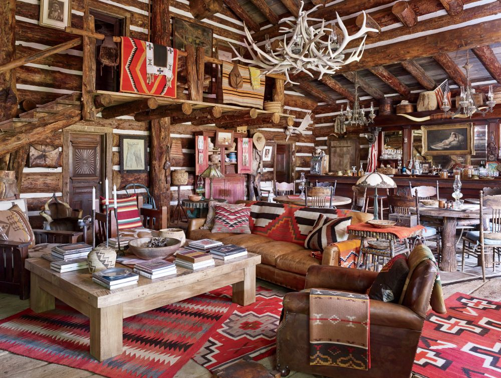 Rustic Living Room By Ralph Lauren Architectural Digest