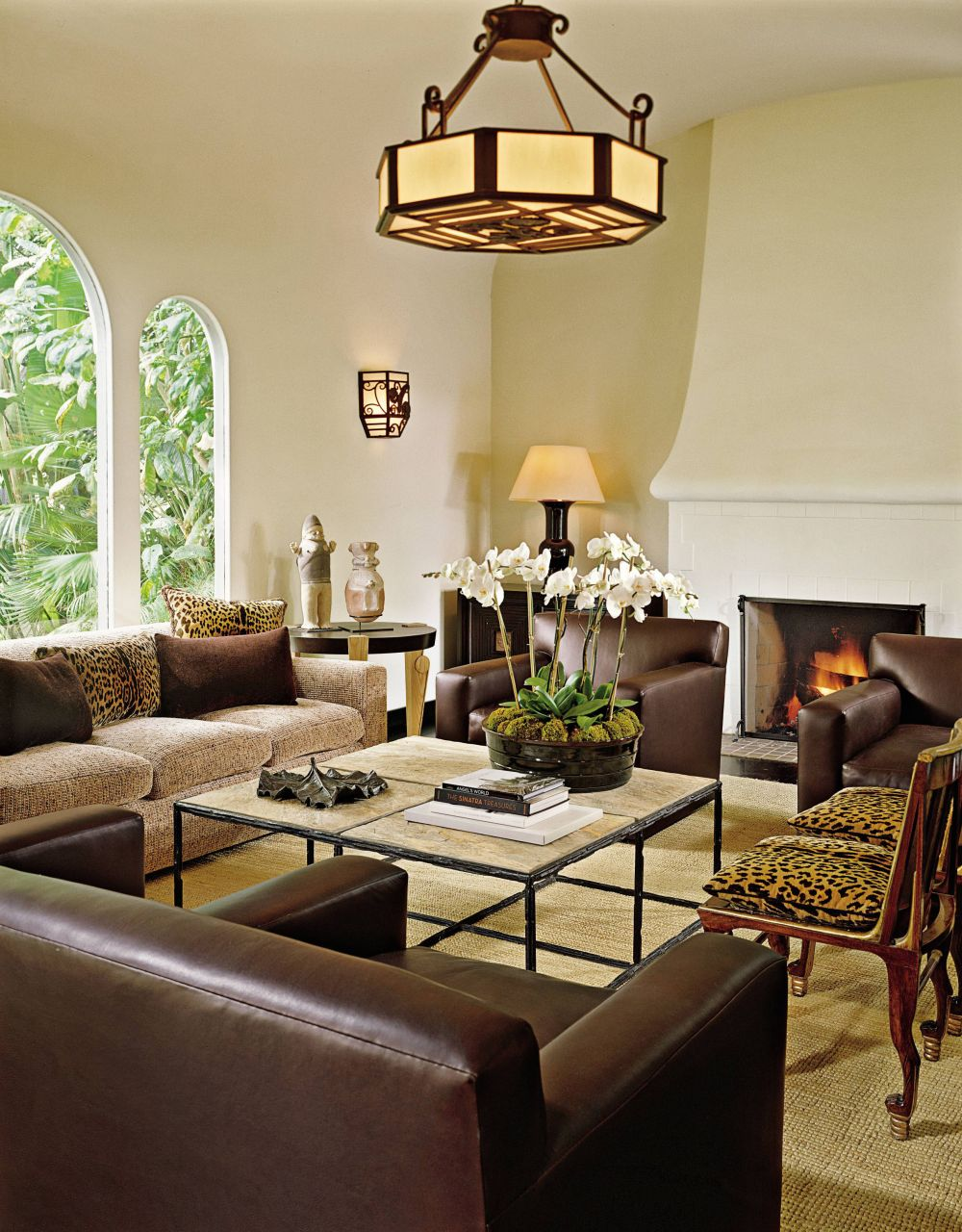 Rustic living room by craig wright by architectural digest for The family room los angeles