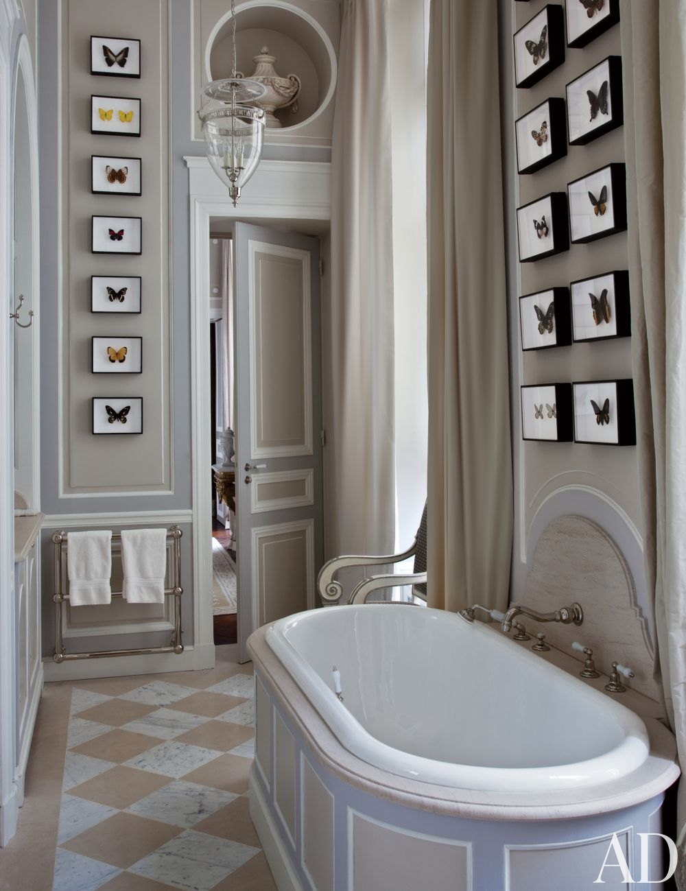 Traditional bathroom by jean louis deniot ad designfile for Architectural digest bathroom ideas